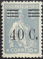 Portugal 1928-29 Ceres Surcharged In Black - Ceres Com Sobertaxa MNH - Post