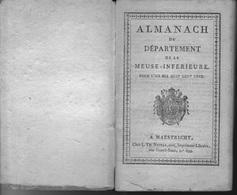 Almanach Du Département De La Meuse-Inférieure ... Maastricht 1811 - Historische Dokumente