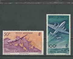 NOUVELLE CALÉDONIE Scott C21, C22 Yvert PA61, PA62 (2) * Cote 12,00 $ 1948 - Neufs