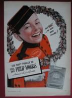 ORIGINAL 1940 MAGAZINE ADVERT FOR  PHILIP MORRIS CIGARETTES - Other