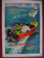 ORIGINAL 1937 MAGAZINE ADVERT FOR  CHESTERFIELD CIGARETTES - Advertising