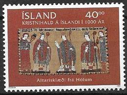 Islande 2000 N°880 Neuf** 1000 Ans De Christianisme En Islande - 1944-... Republik