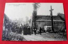 CPA 62  SAINT-JOSSE-SUR-MER N° 3 Le Calvaire  Coll. Bibloque ( Environs ETAPLES ) - Autres Communes