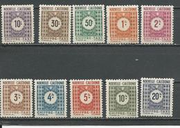NOUVELLE CALÉDONIE Scott J32-J41 Yvert Taxe 32-41 (10) * Cote 8,50 $ 1948 - Neufs