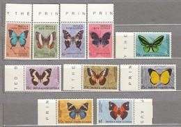 Papua New Guinea 1966 Butterflies MNH(**) Mi 83-94 READ #24044 - Papouasie-Nouvelle-Guinée