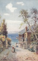 Postcard Newquay Beach Road Signed Wimbush Tuck Oilette No 7462 My Ref  B12950 - Wimbush
