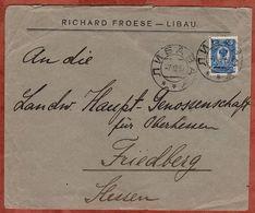 Vordruckbrief Froese Libau, EF Wappen, Nach Friedberg 1910 (70983) - 1857-1916 Imperium