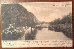 Charleroi Le Canal Et La Passerelle 1900 - Charleroi
