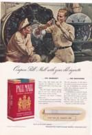 ORIGINAL 1940 MAGAZINE ADVERT FOR PALL MALL CIGARETTES - Advertising