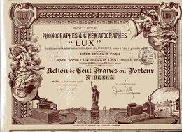 """""""LUX"""" PHONOGRAPHES & CINÉMATOGRAPHES - Cinéma & Théatre"""