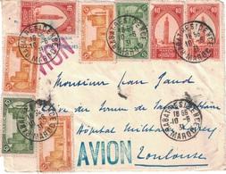 MAROC - RABAT RESIDENCE - 10-6-1931 - SUPERBE AFFRANCHISSEMENT SUR DEVANT DE LETTRE POUR TOULOUSE. - Briefe U. Dokumente