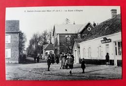 CPA 62 SAINT-JOSSE-SUR-MER N° 6  La Route D' Etaples Café Tabacs Denis Deleau ( Environs ETAPLES ) - Autres Communes