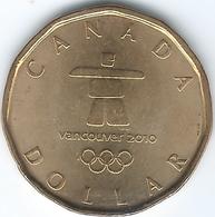 Canada - Elizabeth II - 2010 - 1 Dollar - Winter Olympic Lucky Loonie - KM883 - Canada