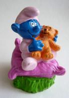 FIGURINE FIZZY BEBE SCHTROUMPF ET OURSON (1) - Smurfs