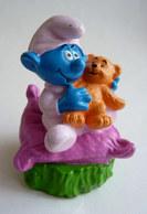 FIGURINE FIZZY BEBE SCHTROUMPF ET OURSON (2) - Smurfs