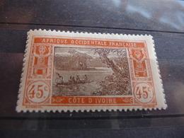 TIMBRE  COTE  D'IVOIRE    N  52      COTE  1,00  EUROS    NEUF  SANS  CHARNIÈRE - Ivory Coast (1892-1944)