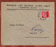 Lothringen, Vordruckbrief Banque Levy Sarrebourg, EF Hindenburg, Nach Metz + Nancy, L 2 Unzulaessig Zurueck,1940 (70986) - Occupation 1938-45