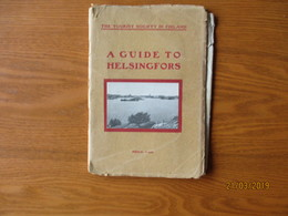 1910 A GUIDE TO HELSINGFORS. FINLAND HELSINKI , TWO MAPS , TRAM  ,0 - Dépliants Touristiques