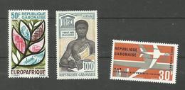 Gabon Poste Aérienne N°48 à 50 Neufs** Cote 3.90 Euros - Gabón (1960-...)