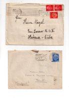 Monde - 67 Affranchissements Sur Lettres, Cartes -voir état - Briefmarken