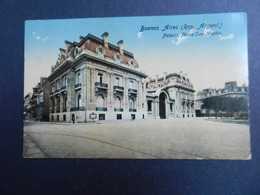 19912) ARGENTINA BUENOS AIRES PALACIO PLAZA SAN MARTIN VIAGGIATA 1916 MOLTO BELLA - Argentine