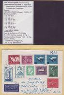 ## Bundesrepublik , BRIEF 1956 Mit 13 (!!) Marken (u.a. MiNr 225) , DILLINGEN - AUSTRALIEN , DEKORATIV Und SELTEN ## - [7] République Fédérale