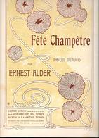 CREME SIMON - Partition FETE CHAMPETRE Pour PIANO Par ERNEST ALDER Imprimé Par ALMANACH VERMOT Pour CREME SIMON - Perfume & Beauty