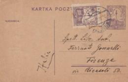 INTERO POSTALE POLONIA ANNI 20 DIRETTA ITALIA (EX394 - 1919-1939 République
