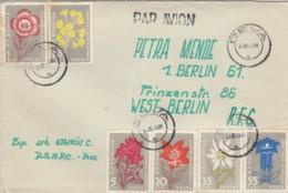 LETTERA ROMANIA SERIE FIORI 1978 TIMBRO DDR (EX418 - 1948-.... Républiques