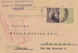 INTERO POSTALE SERBIA SLOVENIA CROAZIA 1921 (EX432 - Serbia