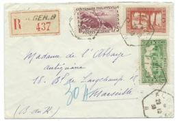 ENVELOPPE BUREAU AUXILIAIRE ALGER B 1938 RECOMMANDE / ALGERIE - Non Classificati
