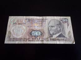 Turkey 50 Lirasi 1970 - Turquie