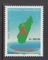 2006 Madagascar Malagasy Aids Sida Health Complete Set Of 1  MNH - Madagascar (1960-...)