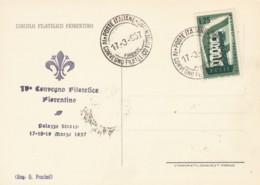 CARTOLINA 1957 L.25 EUROPA  CONV FILATELICO FIORENTINO (EX546 - 1946-.. République