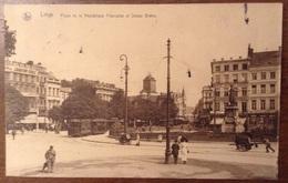 Liege Place De La Republique Francaise Et Statue Gretry - Liège