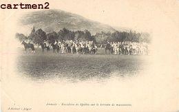 AUMALE ESCADRON DE SPAHIS SUR LE TERRAIN DE MANOEUVRES CAVALIER ALGERIE GUERRE 1900 Sour El Ghozlane ALGERIE - Altre Città