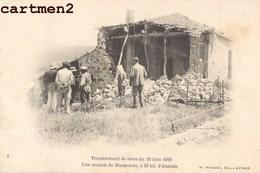 AUMALE TREMBLEMENT DE TERRE DU 24 JUIN 1910 UNE MAISON DE MASQUERAY Sour El Ghozlane ALGERIE - Algérie