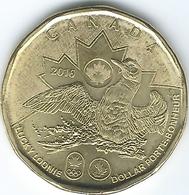 Canada - Elizabeth II - 2016 - 1 Dollar - Olympic Lucky Loonie - KM2089 - Canada