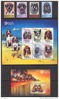 Antigua & Barbuda 2000. Michel #3131/40+Bl.#453 MNH/Luxe. Dogs (B46) - Antigua Et Barbuda (1981-...)