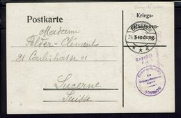 FR - 1916 - Kriegs Gefangenen Sendung - Camp De Prisonniers Gustrow - Carte Pour Lucerne - Contrôle De Censure - B/TB - - Storia Postale