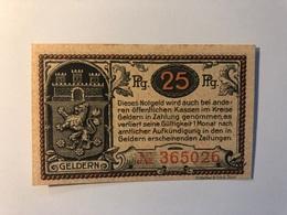 Allemagne Notgeld Geldern 25 Pfennig - Collections