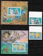 #C71# DJIBOUTI MICHEL 287/289B+ BL 27/28B MNH**. SHIP, COOK. - Djibouti (1977-...)