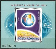 Romania 1981 Scott C239 MNH Planets, Earth - Nuovi