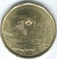 Canada - Elizabeth II - 2017 - 1 Dollar - Connecting A Nation Iconic Landmarks - Canada