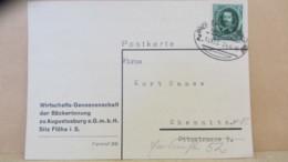 DR: Fern-Karte Bäckerinnung Zu Augustusburg Mit Bahnpost-St. Dresden-Reichenbach-Hof Z. 1003 24.6.36 Knr: 608 - Deutschland