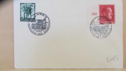 """DR: Brief 12+38 Pf """"Geburtstagdes Führers 1938"""" Li Randstück MiF Mit SSt. 20.4.38 Aus Linz, Bf O. Anschrift Knr: 664,662 - Briefe U. Dokumente"""