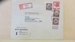 DR:  R-Fern-Brief Mit 10 Pf (3) Hindenburg Aus Berlin 2 (973) Vom 8.10.35 Nach Chemnitz Knr: 518 (3) Ua. - Deutschland