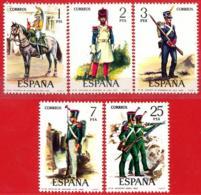 España. Spain. 1976. Uniformes Militares. Military Uniforms (G VI) - 1971-80 Ongebruikt