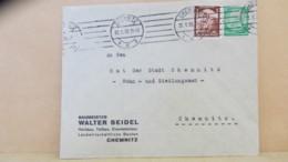 DR: Orts-Brief Mit 3 Pfg Saarabstimmung Vom 22.1.35 Abs: Chemnitz Baumeister Walter Seidel Knr: 565 Ua. - Briefe U. Dokumente