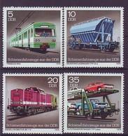 GERMANY DDR 2414-2417,unused,trains - Trains